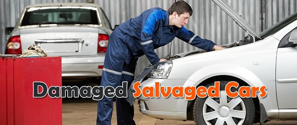 damaged salvaged cars